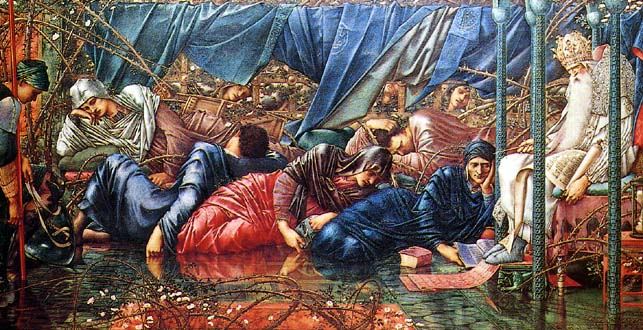 Edward-Burne-Jones-The-Council-Chamber